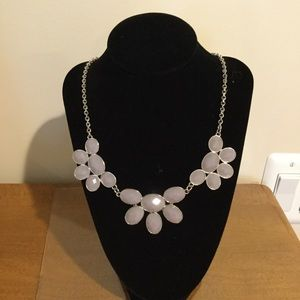 Floral necklace with matching earrings
